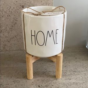 "Rae Dunn ""Home"" ceramic Plant Pot"